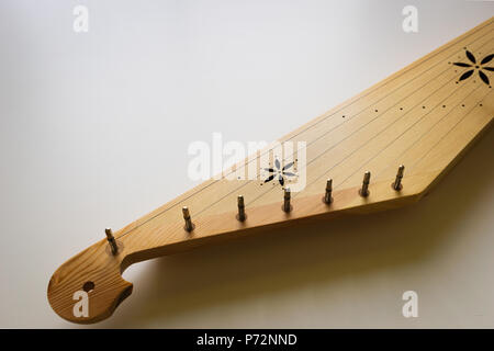 Kannel, Estonian traditional harp musical instrument for folk music in Estonia, Finland. - Stock Photo