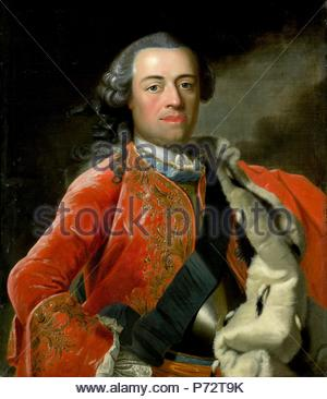 Portrait of William IV, Prince of Orange, Anonymous, c. 1750. - Stock Photo