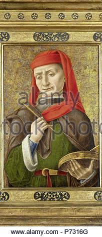 Saint Damian (or Cosmas), attributed to Bartolommeo Vivarini, 1465 - 1480. - Stock Photo