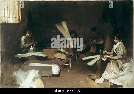 . Venetian Glass Workers  1880/82 148 John Singer Sargent - Venetian Glass Workers - Stock Photo