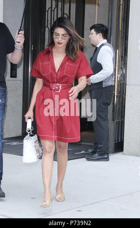 New York, NY, USA. 03rd July, 2018. Priyanka Chopra seen in New York City on July 03, 2018. Credit: Rw/Media Punch/Alamy Live News - Stock Photo