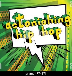 Astonishing Hip Hop - Comic book word on abstract background. - Stock Photo