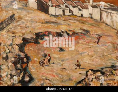 . The Cricket Match (Malay Quarter)  1924 135 Harry Caldecott - The Cricket Match (Malay Quarter) - - Stock Photo