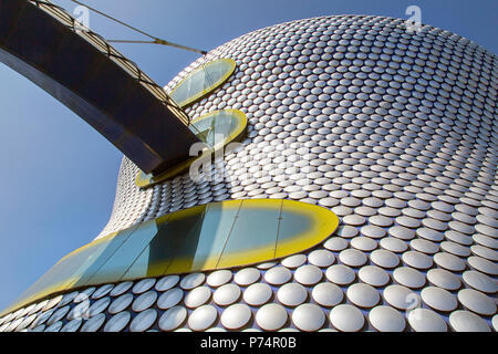 Birmingham, UK: June 29, 2018: Selfridges is one of Birmingham city's most distinctive and iconic landmarks and part of the Bullring Shopping Centre - Stock Photo