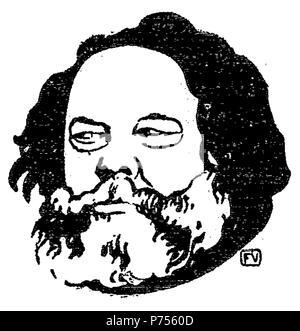 Russian anarchist and philosopher Mikhail Bakunin (1814-1876) by Félix Valloton (1865-1925) . 1895 14 Bakunin by Vallotton - Stock Photo
