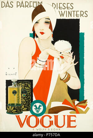 2 1926 1927 circa Jupp Wiertz Plakat Das Parfüm dieses Winters - Vogue, Firma F. Wolff & Sohn, Karlsruhe - Stock Photo