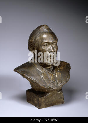 Henry Ossawa Tanner (American, 1859-1937). 'Bust of Benjamin Tucker Tanner,' 1894. patinated plaster. Walters Art Museum (28.33): Museum purchase with funds provided by the Eddie and Sylvia Brown Challenge Grant for the Acquistion of African American Art and the estate of Anna Fehl, 2004. 140 Henry Ossawa Tanner - Bust of Benjamin Tucker Tanner - Walters 2833 - Three Quarter - Stock Photo