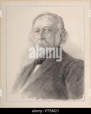 Theodor Fontane, Lithographie, 1896. 30 x 26 cm . 1896 164 Max Liebermann Theodor Fontane 1896 - Stock Photo