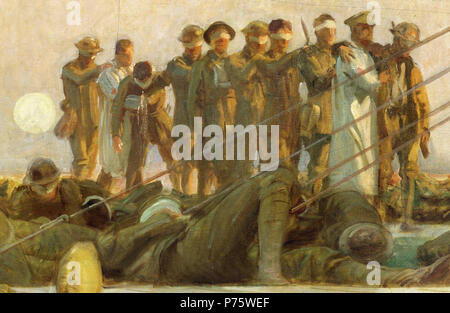 . Gassed . Detail of the painting . 1919 148 John Singer Sargent - Gassed - Detail - Stock Photo