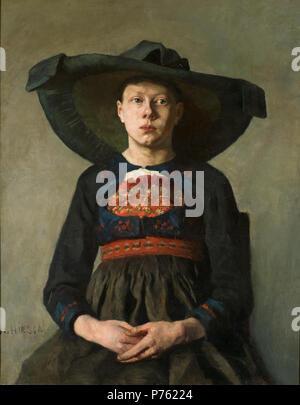 .  English: A Bavarian Peasant Girl Svenska: Bayersk bondflicka  from 1885 until 1887 2 A Bavarian Peasant Girl (Hanna Pauli) - Nationalmuseum - 20186 - Stock Photo