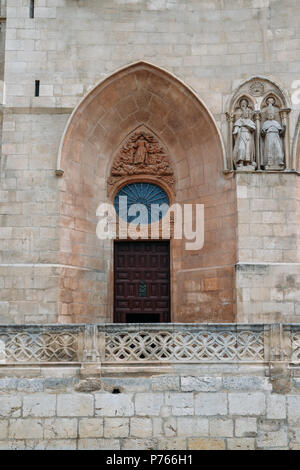13th-century Burgos Cathedral is outstanding for the elegance and harmony of its architecture - UNESCO World Heritage designation - Stock Photo