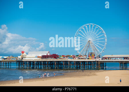 Central Pier in Blackpool, Lancashire. - Stock Photo