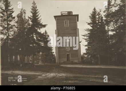 English: Oldest Puijo tower in Kuopio, Finland Suomi: Puijon vanhin torni Kuopiossa . 1893 (before 1931) 183 Puijo2 - Stock Photo