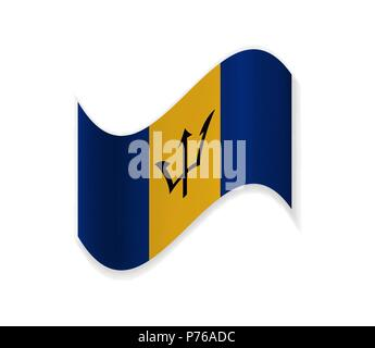 The Flag Of Barbados - Stock Photo