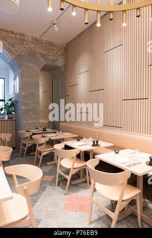 Aamanns 1921 restaurant, Copenhagen - Stock Photo