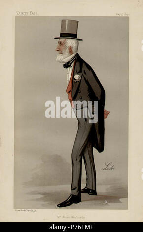 Caricature of Mr James Weatherby. 1890 228 James Weatherby Vanity Fair 1890-05-17 - Stock Photo