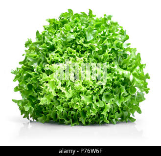 lettuce, isolated, salad, white, green, background, food, healthy, fresh, vegetable, leaf, organic, ingredient, vegetarian, raw, health, freshness, di - Stock Photo