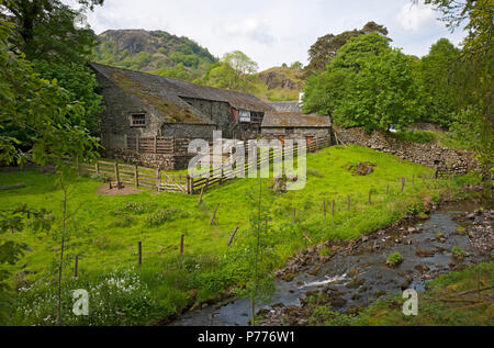 Yew Tree Farm (once owned by Beatrix Potter) near Coniston Cumbria England UK United Kingdom GB Great Britain - Stock Photo