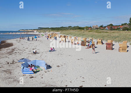 beach, Wustrow, Fischland, Mecklenburg-West Pomerania, Germany - Stock Photo