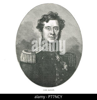 Field Marshal FitzRoy Somerset, 1st Baron Raglan - Stock Photo