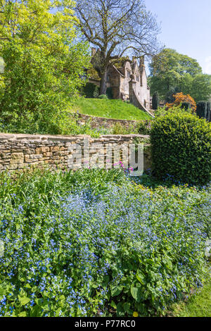 The gardens at Snowshill Manor in the Cotswold village of Snowshill, Gloucestershire UK - Stock Photo