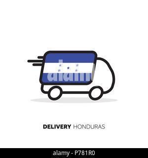 Honduras delivery van. Country logistics concept - Stock Photo