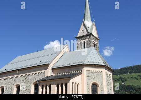 Kirche von Niedernsill Salzburg - Stock Photo