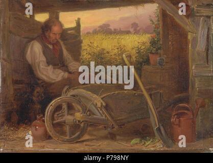 . The Old Gardener  1863 12 Briton Riviere - The Old Gardener - - Stock Photo