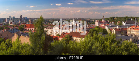 Panorama of Old town, Vilnius, Lithuania - Stock Photo