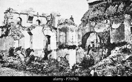 Español: Ruinas de la Iglesia de San Francisco el Grande aproximadamente en 1935. 1940 14 SanFranciscoChurchAntigua1935 02