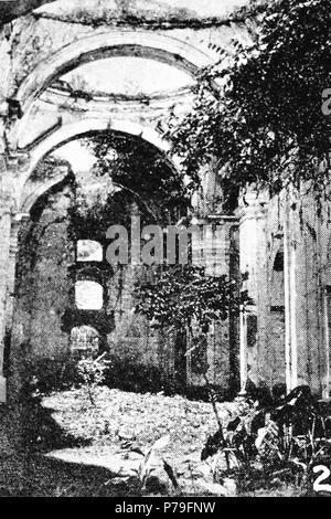 Español: Ruinas de la Iglesia de San Francisco el Grande aproximadamente en 1940. 1940 14 SanFranciscoChurchAntigua1935 01