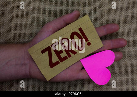 Writing note showing Zero Motivational Call. Business photo showcasing The emptiness nothingness of something no value Wood art work memories lovely l - Stock Photo
