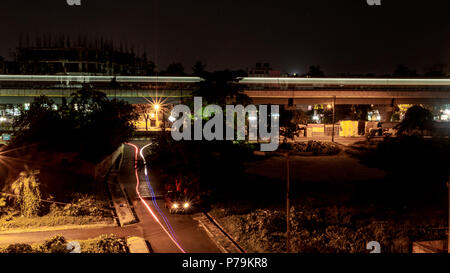 May 26,2918. Light Trials of Metro train in kolkata, India. - Stock Photo
