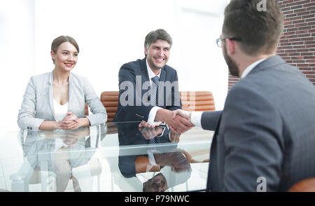 Handshake of successful business people - Stock Photo