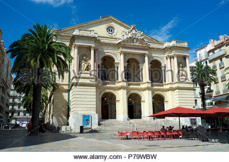 Theatre Municipal - in Toulon, in the Var department, Provence-Alpes-Côte d'Azur region, southern France. - Stock Photo