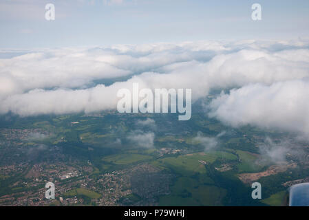 Cloud formation as viewed from an aircraft. - Stock Photo