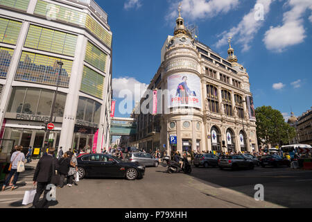 Printemps Haussmann mall in Paris, France (24 June 2018) - Stock Photo