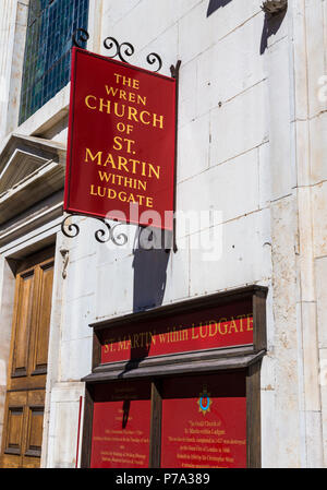 The Church of St Martin within Ludgate - Stock Photo