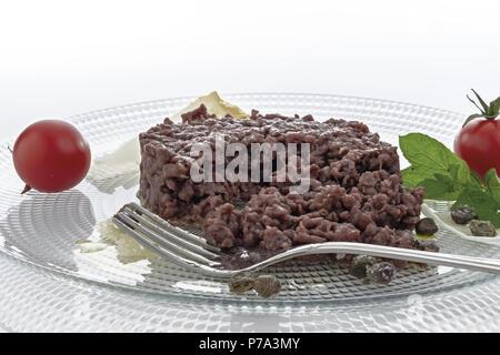 Simple seasoned meat tartare 12 - Stock Photo