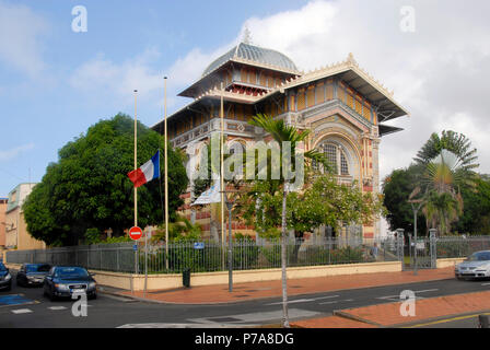 Schoelcher library, Fort de France, Martinique, Caribbean - Stock Photo