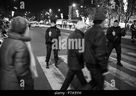 Paris, France 2016. Before the anniversary of the Hypercacher supermarket siege - Stock Photo
