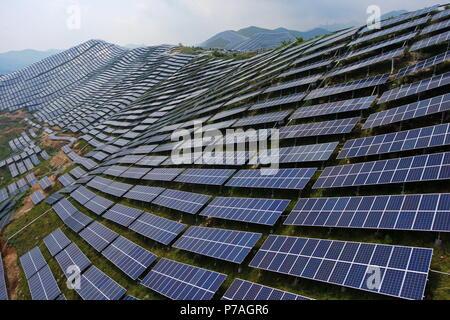 180705) -- YUNCHENG, July 5, 2018 (Xinhua) -- Aerial photo taken on