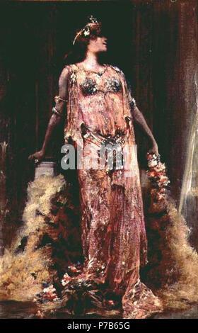 English: Sarah Bernhardt (1844-1923) in the role of Cleopatra . 1893 75 Sarah bernhardt05i - Stock Photo