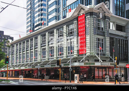 Kirkcaldie & Stains Ltd Department Store, Lambton Quay, Wellington, Wellington Region, North Island, New Zealand - Stock Photo