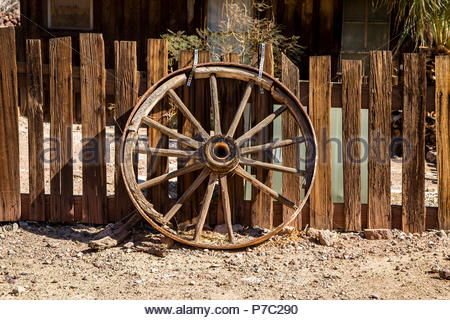 Old Wagon Wheel - Stock Photo