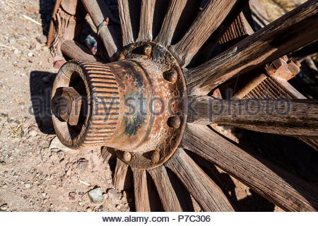 Old Wagon Wheel - Stock Photo
