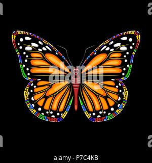 1b40f5a72 Butterfly machaon. Vector beautiful swallowtail boho t-shirt design ...