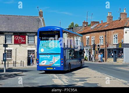 Coastliner bus, Thornton-le-Dale, North Yorkshire, England UK - Stock Photo