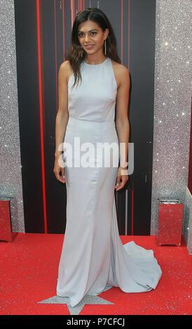 Jun 06, 2018 - Lisa Ambalavanar attending British Soap Awards 2018, Hackney Empire in London, England, UK - Stock Photo