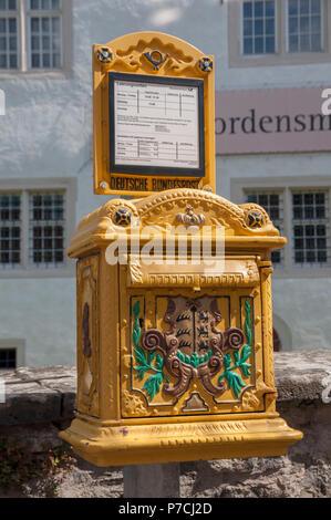 letter box, bad mergentheim, Main-Tauber, Baden-Wuerttemberg, Heilbronn-Franconia, Germany - Stock Photo